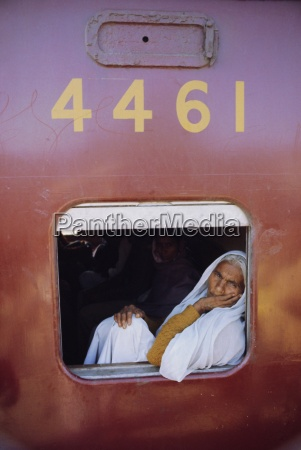 woman on a train at the
