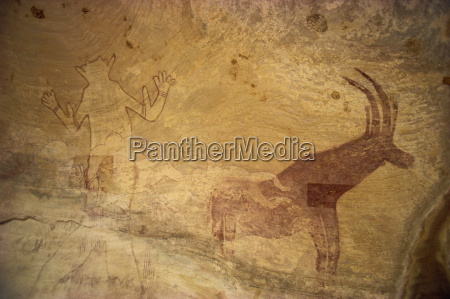 huge painting of god figure and