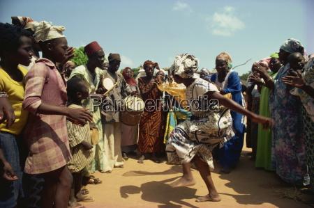 woman dancing in fertility dance in