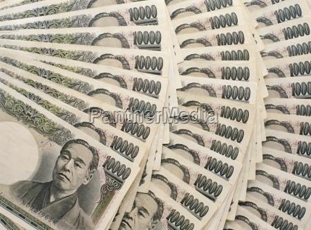 japanese 10 000 yen bank notes