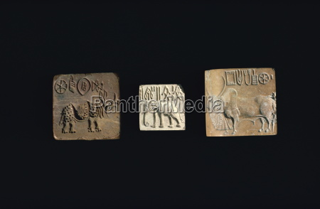 seals depicting animals from the indus