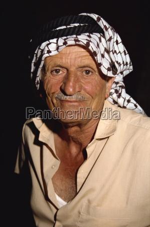 portrait of an elderly man wearing