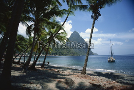 pitons st lucia windward islands west