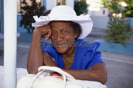 portrait of an elderly woman oranjstad