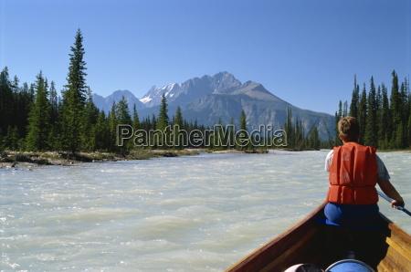 canoe trip kicking horse river rocky