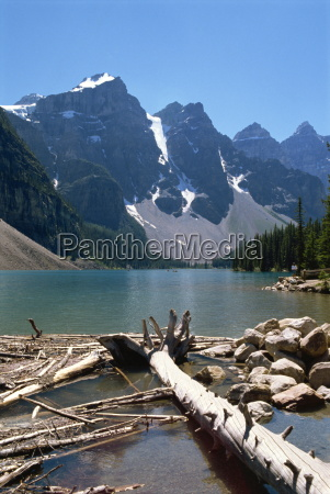 lake moraine rocky mountains alberta canada