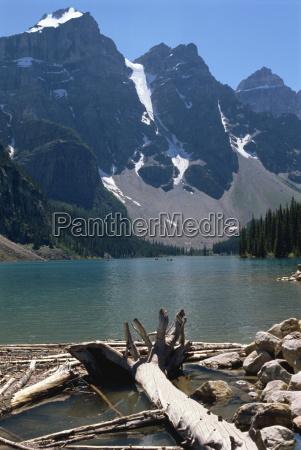 lake moraine rocky mountains alberta canada