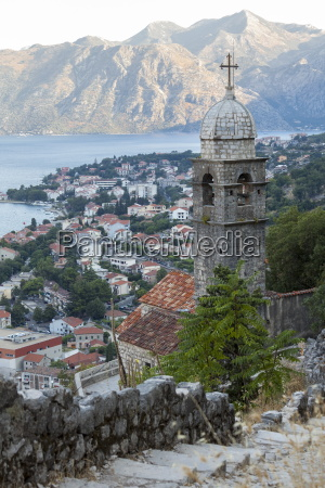 kotor old town and fortifications at
