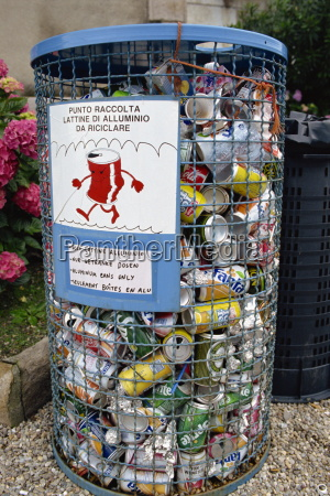 aluminium cans for recycling italy europe