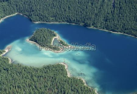lake in rocky mountains near banff