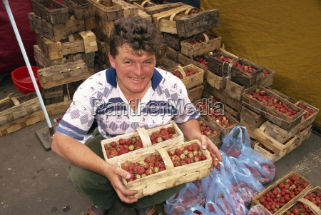 portrait of a man with punnets