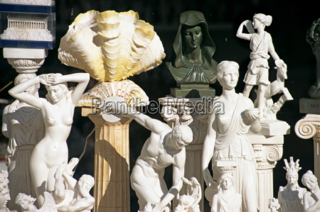 reproduction sculptures and statues displayed in