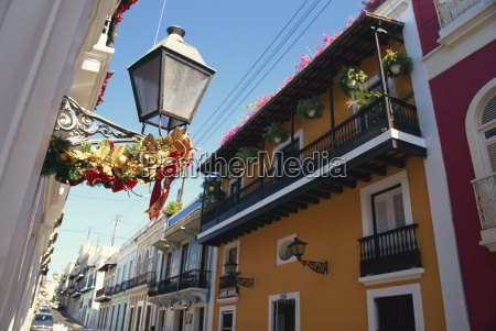 balconies on typical street in the
