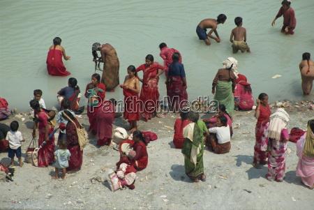 ritual cleansing in seti khola a