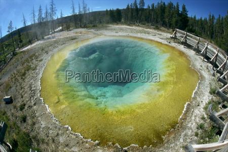 the morning glory pool yellowstone national