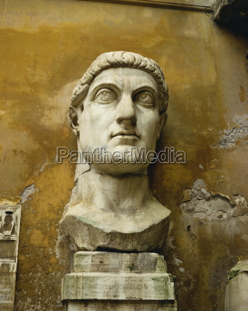 statue from the constantine colossus rome