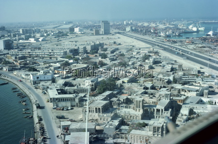 aerial shot of dubai united arab