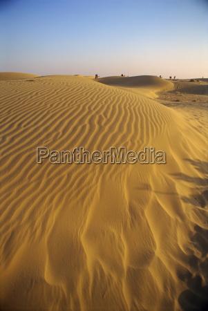 the sam sand dunes at dusk
