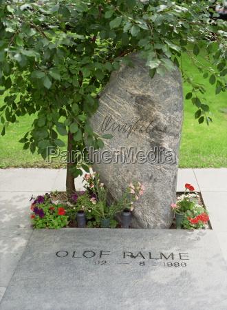 grave of olof palme swedish prime