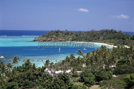 lagoon with coral sand beach protected