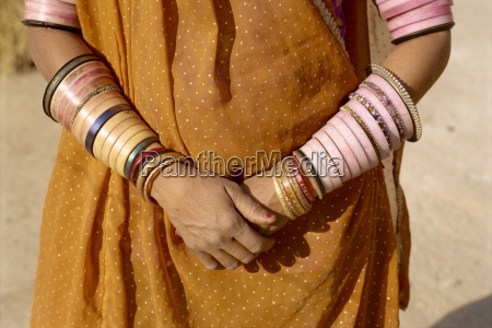 bangles cover a womans arms rajasthan