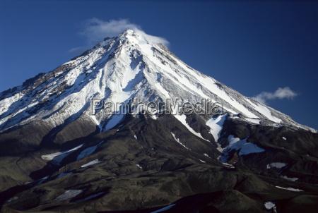 koryaksky volcano 3456m high conical andesite