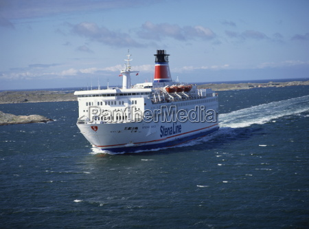 a stena line ferry among outer