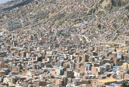 view across city from el alto