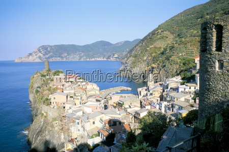 village of vernazza from the east
