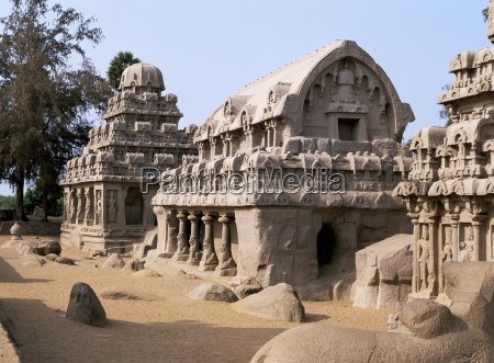 group of rock cut temples called