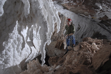curved stalactites and wall flowstone of