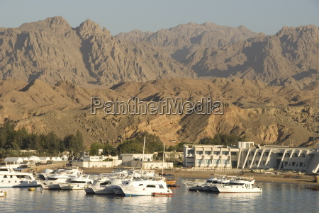 port and marina in front of