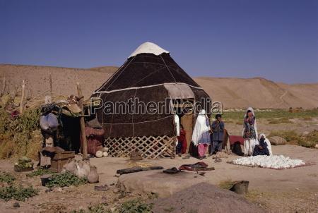 uzbeks yurt near maydana afghanistan asia