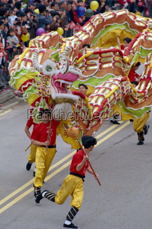 dragon dance chinese new year carnival