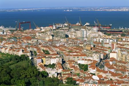 low aerial view miradouro santa luzia