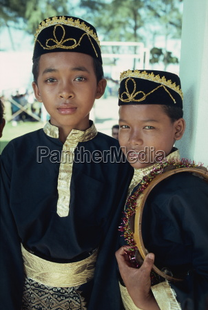 boys in traditional costume east coast