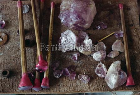 tools for polishing gemstones in borneo