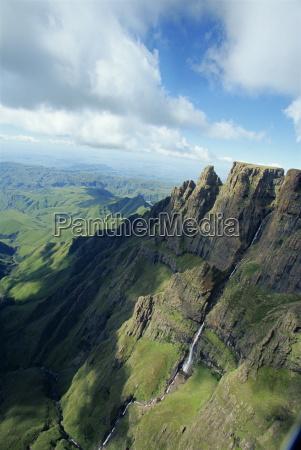 monks cowl valley drakensberg south africa