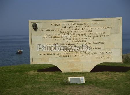 the ataturk message anzac cove cemetery