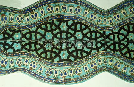 ancient tiles in karatay medrese museum