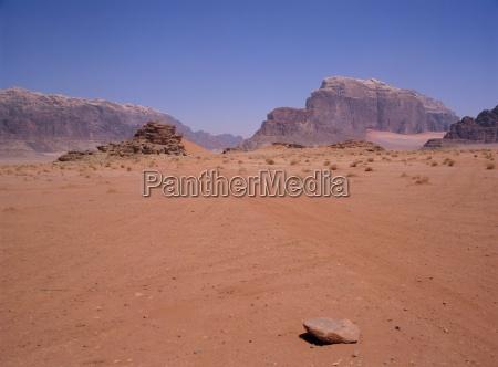 arid landscape wadi rum jordan middle