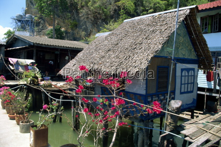 traditional domestic housing panya fishing village