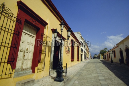 typical street oaxaca mexico central america