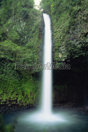 the rio fortuna waterfalls on the