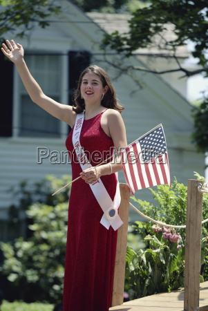 fourth of july beauty queen with