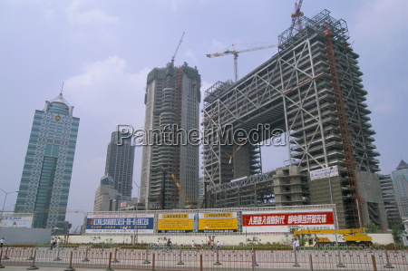 construction site in the pudong new