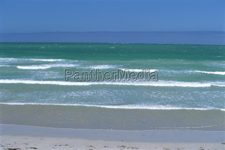seascape from the surf beach at