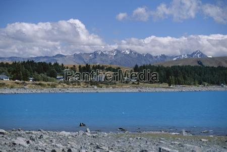 glacial sediment causes blue colour in