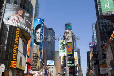 billboards and modern highrise buildings in
