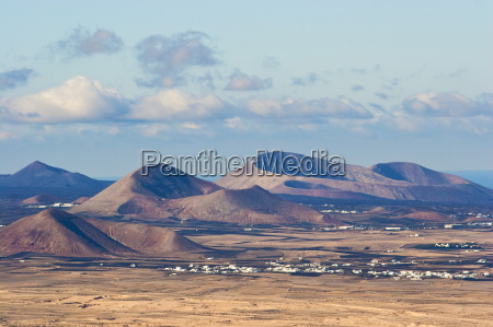 cinder cones in the centre of